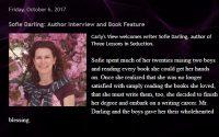 Sofie Darling interviewed on Carly Jordynn's blog